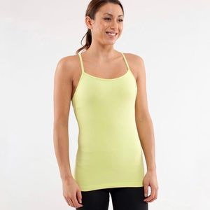 Lululemon Power Y Tank Top Wild Lime Yellow Size 6